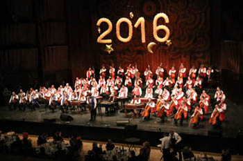 The 100 Member Gipsy Orchestra performing in 2016