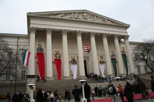 Celebrations at the Hungarian National Museum on 15. March
