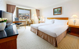 spacious room in the Hilton Budapest