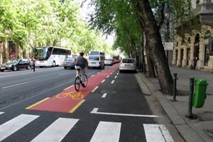 bike lane on Andrassy road