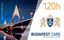 120 hour budapest card with the Megyeri bridge on it