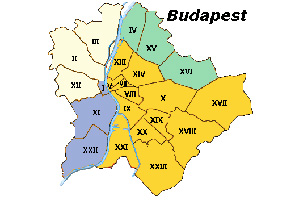 Budapest District Map