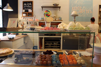 the cake counter in Cake Shop, Budapest