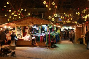 Wooden cottage at the Christmas Fair