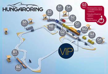 map of the F1 Hungaroring race track