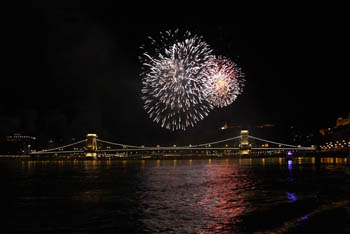 fireworks over the Danube
