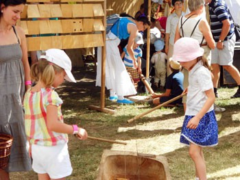children playing folk games