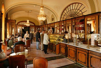 Interior of the Gerbeaud Cafe