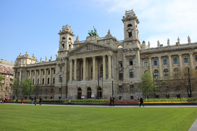 facade of the Ethnography Museum, Budapest