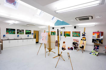 a contemporary art gallery inside