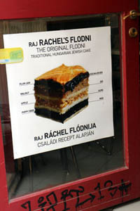 a poster about Rachel's flodni