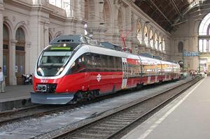 Train in Keleti Train Station Budapest