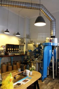 a Coffee-Tech roaster in Blue Bird Roastery
