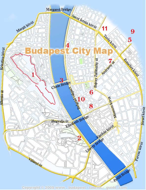 Budapest MapsDownloadable City District Metro Maps