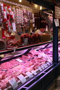 butchers in Great Market Hall