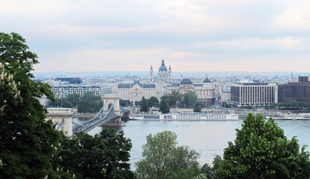 Panorama with the Danube, the Basilica and the Gresham Palace