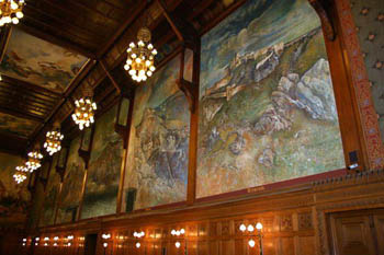 Paintings in one of the rooms
