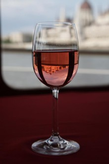 a glass of nice rose wine