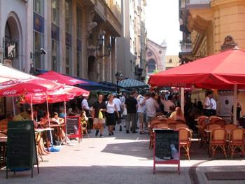 Cafes, Restaurants in Budapest's Ráday utca