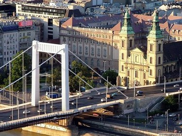 Historic Budapest, Elizabeth Bridge from the 1960s