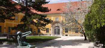 the courtyard of Kiscell Museum-Zichy Castle in Obuda