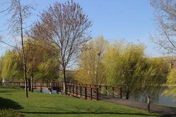 Kopaszi dam park Budapest district XI.