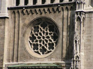 rose window on Matthias Church
