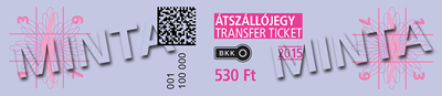 a purple metro transfer ticket sample
