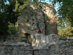Ruins on Margaret Island from the Middle ages