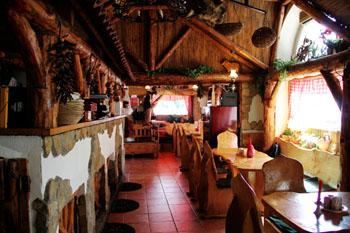 Paprika Restaurant's rustic interior