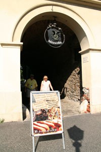 entrance of the Rétesvár Strudel Shop