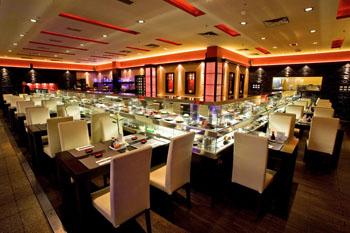 Wasabi wok restaurant's elegant interior