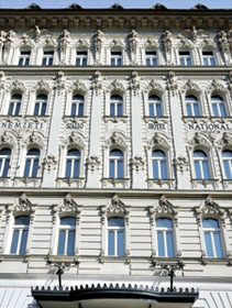 the facade of Hotel Nemzeti