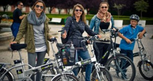 young ladies going on an e-bike tour