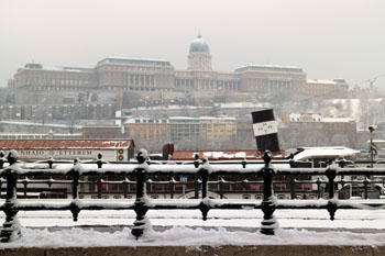 Buda Royal Palace in winter