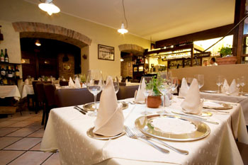 Inside Krizia restaurant