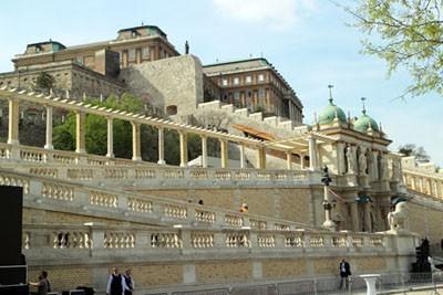 The restored Castle Bazaar in Buda