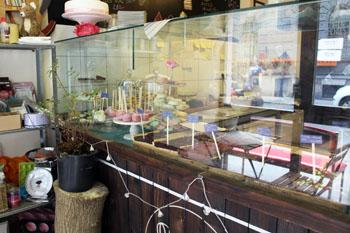cake counter in Domi's bake Shop