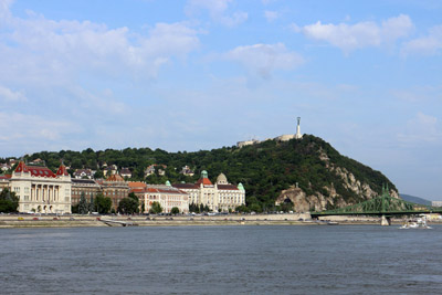 the Gellért Hill and the Danube