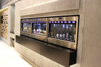 modern wine tasting machines in CultiVini