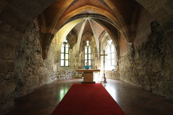 a gothic chapel in the museum