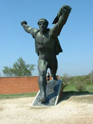 tatue in Memento Park outside Budapest
