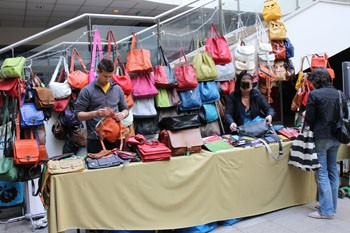 handmade bags at Gardrób Design Fair