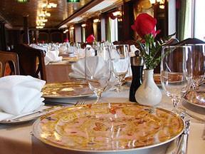a Luxury Restaurant inside