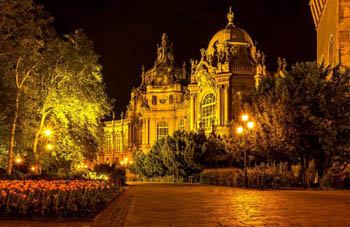 the Castle/museum of Hungarian agriculture by night