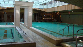 the pool in Aquincum Hotel