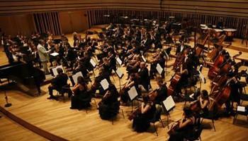 a concert in the Bela Bartok concert hall