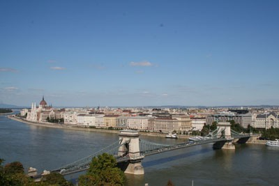 wonderful Panorama of the Danube and the Chain Bridge