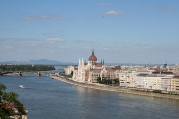 The Hungarian Parliament in the Pest side of the Danube
