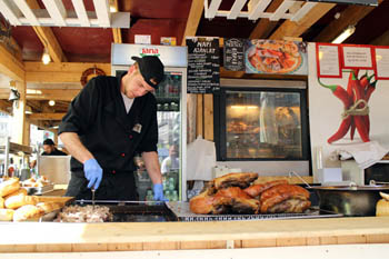 roast sausage, pork knuckle